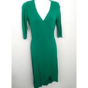 H&M Green wrap asymmetrical dress